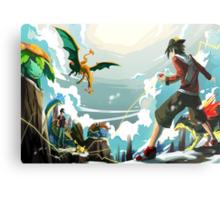 Pokemon Battle Metal Print