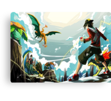 Pokemon Battle Canvas Print