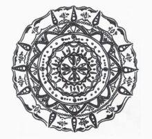 Hindu/ Buddhist Black and White Mandala Kids Tee