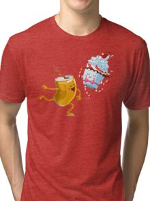 Drink And Eat FAST // Cute Dancing Energy Drink And Sweet Muffin Tri-blend T-Shirt
