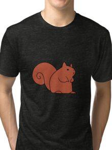 Cute Red Squirrel Tri-blend T-Shirt
