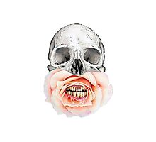 Rose Mouthed Skull by LivsDoodles