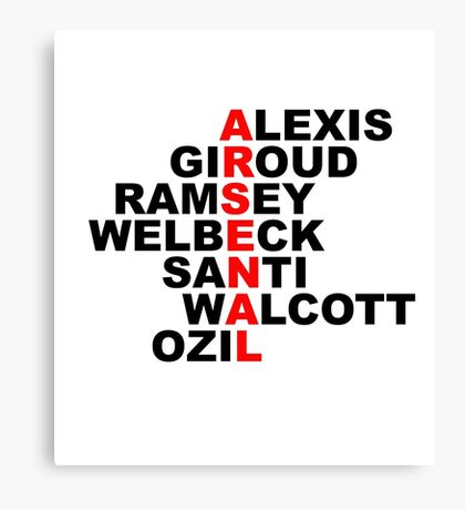 arsenal red Canvas Print