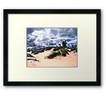 Sandy Beach Dune Grass Framed Print