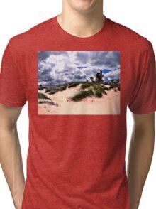 Sandy Beach Dune Grass Tri-blend T-Shirt