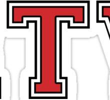 RTV Varsity Font Sticker