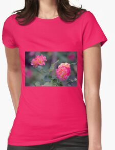 Cottage Garden Roses Womens Fitted T-Shirt