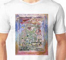Man tries to build a rose garden by Darryl Kravitz Unisex T-Shirt
