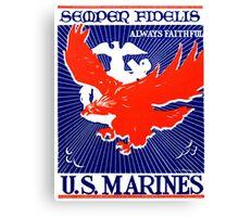WWII Always Faithful, US Marines Canvas Print