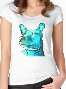 Dog Watercolor Women's Fitted Scoop T-Shirt