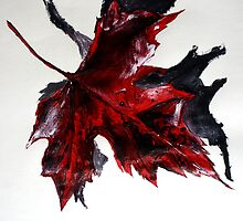 Canada Maple Leaf Red Acrylic On Paper Contemporary Painting  by JamesPeart