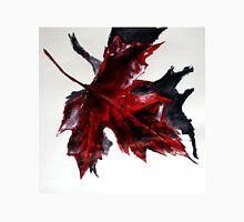 Canada Maple Leaf Red Acrylic On Paper Contemporary Painting  Unisex T-Shirt