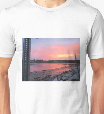 Sunset sky in Kennebunkport ME Unisex T-Shirt