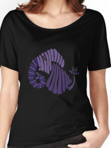 Cool Funny Funky Elephant Abstract Art Women's Relaxed Fit T-Shirt