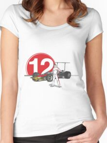 Speed Racer - Mario Andretti Women's Fitted Scoop T-Shirt