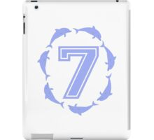 Baby learns to count with blue dolphin 7 iPad Case/Skin