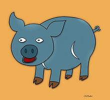 Blue Pig by YoPedro