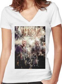 Who will be king? Women's Fitted V-Neck T-Shirt