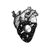 Heart full of Saturn Photographic Print
