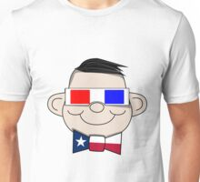 3D Glasses Texan Unisex T-Shirt