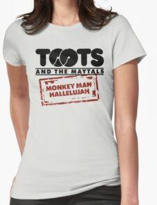 Monkey Man, Hallelujah Womens Fitted T-Shirt