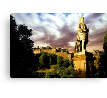 Castle and Ramsay Monument Canvas Print