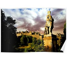 Castle and Ramsay Monument Poster
