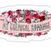 My Chemical Romance Floral Sticker