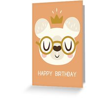 Crown Bear Greeting Card