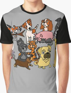Cool Funny Pet Abstract Art Graphic T-Shirt