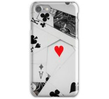 Heart of cards iPhone Case/Skin