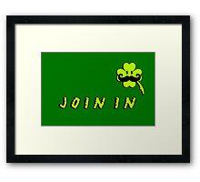 St Patrick: Irish Mustache VRS2 Framed Print