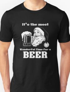 Christmas Santa - It's the most wonderful time for a beer Unisex T-Shirt
