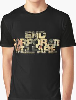 END CORPORATE WELFARE. Graphic T-Shirt