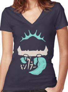 Kingler (blue) Women's Fitted V-Neck T-Shirt