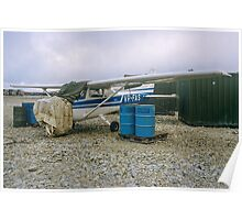 Damaged Cessna Skyhawk VP-FAS at RAF Stanley Poster