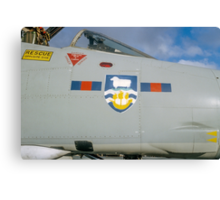 Falklands Crest on 23 Sqn Phantom Canvas Print