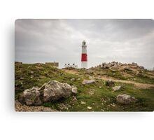 Portland Bill Lighthouse in Dorset, England UK Canvas Print
