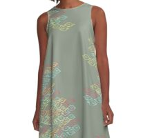 Voyeur Print - Primary A-Line Dress