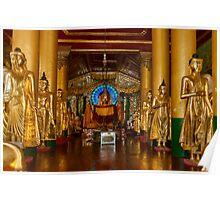 Golden Buddhas. Poster
