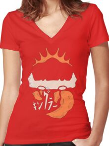 Kingler (orange) Women's Fitted V-Neck T-Shirt