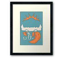 Kingler (orange) Framed Print