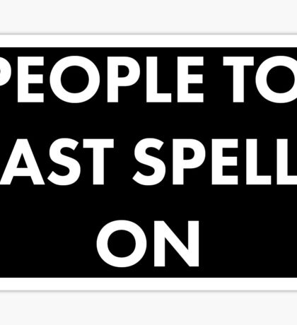 People to Cast Spells On Journal Sticker