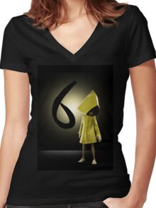 Six- Little Nightmares Women's Fitted V-Neck T-Shirt