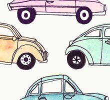 Vintage Vehicles Pattern Sticker
