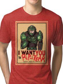 Rip and Tear Tri-blend T-Shirt