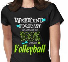 100% Chance of Volleyball Womens Fitted T-Shirt