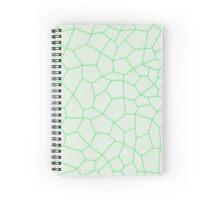 Geometric Green Pentagon Pattern Spiral Notebook