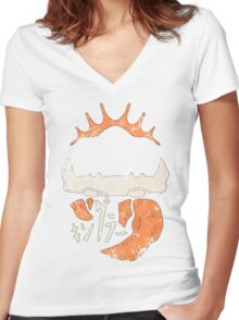 Kingler (old orange) Women's Fitted V-Neck T-Shirt
