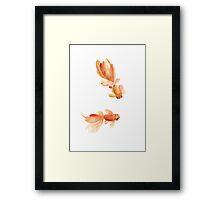Goldfish Watercolor Horoscope Fish Orange Home Decor Picture Framed Print